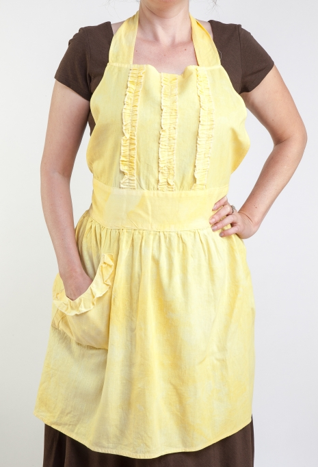 Yellow Ruffle Apron by Ann Perry Designs