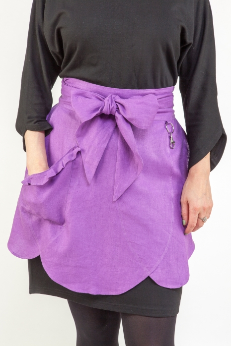 Purple Half Apron by Ann Perry Designs