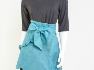 Aqua Half Apron by Ann Perry Designs