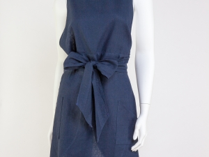 Ladies Full Tulip Style Apron-Midnight Blue