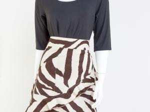 Zebra (Brown) Print Half Apron