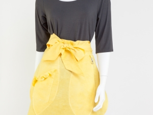 Hostess Half Apron - Sunshine Yellow Tulip Style