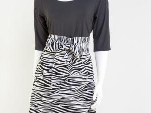 Zebra Print-Tulip Shape Half Apron
