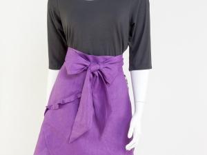 Hostess Half Apron - Purple Tulip Style