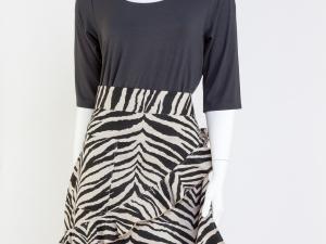 Zebra (Black and White) Print Half Apron