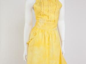 Women's Yellow (Water colors)  Tuxedo Ruffle Apron